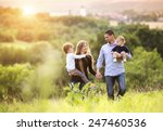 happy young family spending... | Shutterstock . vector #247460536