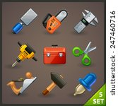 tools icon set 5 | Shutterstock .eps vector #247460716