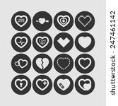 set of simple icons with heart... | Shutterstock .eps vector #247461142