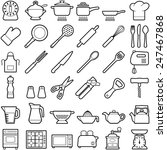 kitchen tool icon collection  ... | Shutterstock .eps vector #247467868