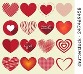 Vector Heart Shapes sing and symbol. used for valentine day.