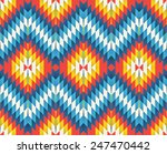 tribal seamless colorful zigzag ... | Shutterstock .eps vector #247470442