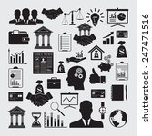 business and finance icon set. | Shutterstock .eps vector #247471516