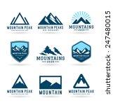 Stock vector mountains 247480015