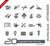 gardening icons    basics | Shutterstock .eps vector #247483858