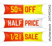 half price textile banners.... | Shutterstock .eps vector #247492342