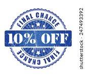 10  final chance stamp.  | Shutterstock . vector #247493392