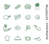 foods thin line vector icon set | Shutterstock .eps vector #247499746