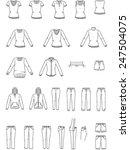 women's clothes   garment... | Shutterstock .eps vector #247504075