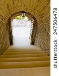 old stairs leading to open gate | Shutterstock . vector #247506478