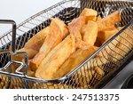 freshly cooked steak cut chips...   Shutterstock . vector #247513375