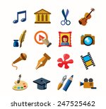 vector color art culture icons... | Shutterstock .eps vector #247525462