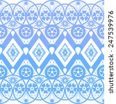 seamless geometric blue lace... | Shutterstock . vector #247539976