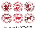 cow  pig and sheep rubber... | Shutterstock .eps vector #247545172