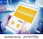 e commerce shopping online... | Shutterstock . vector #247547002