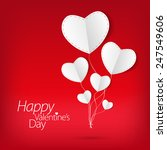 valentines day love card with... | Shutterstock .eps vector #247549606