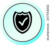 shield sign icons  vector... | Shutterstock .eps vector #247553002