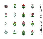 icons plant | Shutterstock .eps vector #247562212