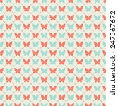seamless pattern with... | Shutterstock .eps vector #247567672