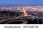 aerial view of san francisco... | Shutterstock . vector #247568728