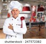 senior professional chef man in ...   Shutterstock . vector #247572382