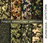 Set Of 8 Jungle Camouflage...