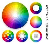 set of color wheels. color... | Shutterstock .eps vector #247573225