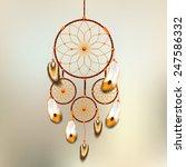 dreamcatcher vector... | Shutterstock .eps vector #247586332