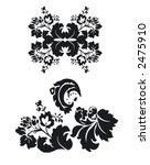 black flower pattern | Shutterstock .eps vector #2475910