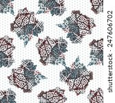 seamless abstract pattern in... | Shutterstock .eps vector #247606702