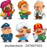 funny cartoon. positive... | Shutterstock .eps vector #247607422