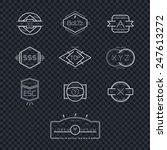 modern vintage insignia... | Shutterstock .eps vector #247613272