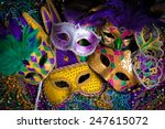 A Group Of Venetian  Mardi Gra...