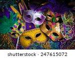 A Group Of Venetian  Mardi Gra...