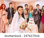 group people at wedding table... | Shutterstock . vector #247617016
