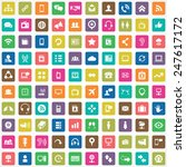 100 communication icons big... | Shutterstock . vector #247617172