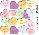 background of valentine candy... | Shutterstock . vector #2476201