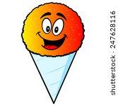 snow cone mascot
