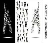 Silhouettes For Sporting Event...