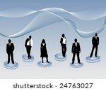 business people on gears | Shutterstock .eps vector #24763027