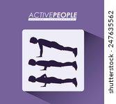 fitness design over purple... | Shutterstock .eps vector #247635562