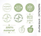 organic eco natural labels and... | Shutterstock .eps vector #247636096