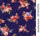 pattern of rose  | Shutterstock .eps vector #247641952