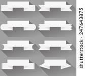 modern  ribbons and banners for ... | Shutterstock .eps vector #247643875