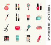 beauty and makeup icon set | Shutterstock .eps vector #247645858