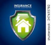insurance icon design  vector... | Shutterstock .eps vector #247655782