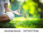Stock photo yoga in the park 247657336