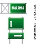 road signs design  vector... | Shutterstock .eps vector #247658236
