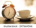morning vintage coffee with... | Shutterstock . vector #247664566