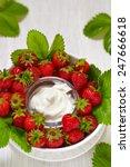 Fresh Strawberries With Vanill...
